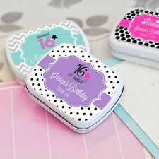 96 Personalized Sweet 16 Mint Tins Favor Boxes Favors