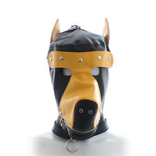 Costume party Leather dog puppy Hood mask yellow PRIVATE LISTING