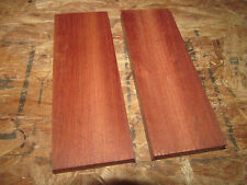 TWO EXOTIC SANDED BLOODWOOD KNIFE SCALES PISTOL GRIPS WOOD LUMBER