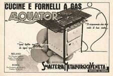 W2868 AEQUATOR - Cucine e fornelli - Pubblicità del 1939 - Old advertising