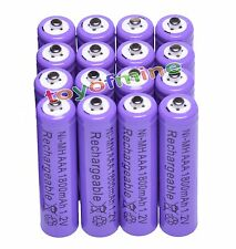 16x AAA 1800mAh 1.2 V Ni-MH rechargeable battery Purple for MP3 RC Toys Camera