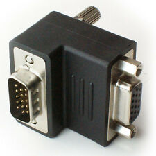 VGA/SVGA Right Angled Adapter - 90-270 Degree Adapter Connector - Male to Female