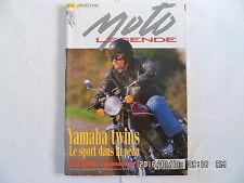 MOTO LEGENDE N°43 01/1995 YAMAHA TWINS BSA SPITFIRE MOTOSACOCHE 1918  E1