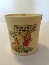 Vintage Ovaltine Little Orphan Annie Plastic Mug