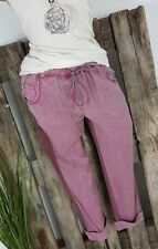 NEU ITALY VINTAGE  CHILLOUT TWO FACE CHINO SWEAT HOSE PANTS WASHED BERRY XL40 42