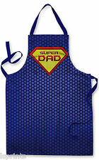 SUPER DAD DESIGN APRON KITCHEN BBQ COOKING PAINTING GREAT GIFT IDEA FATHERS DAY