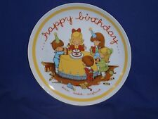 Vintage Joan Walsh Anglund Happy Birthday Decorative Plate 9¼ inch 1973 w/Box