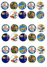 BOB THE BUILDER EDIBLE RICE WAFER PAPER CUP CAKE TOPPER X30