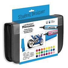 Letraset Promarker Student Designer Set - 24 Colour Markers + Storage Wallet