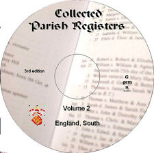 360+ Parish Registers genealogy records Vol 2 South England  on DVD