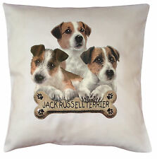 Jack Russell Terrier Puppy Breed of Dog Cotton Cushion Cover - Perfect Gift