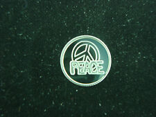 PEACE SYMBOL 1 GRAM .999 PURE SILVER ROUND COIN BULLION BAR GREAT GIFT IDEA