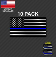 10 pack Police Officer Thin Blue Line American Flag decal sticker graphic