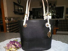 MICHAEL KORS MK JET SET MEDIUM LEATHER TOTE *BLACK* $248 NWT!!!