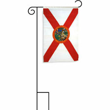 "12x18 12""x18"" State of Florida Sleeved w/ Garden Stand Flag"