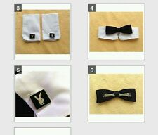 Iconic Vintage Playboy Bunny Costume Cuffs/Cufflinks and Collar/Clip-on Bowtie.