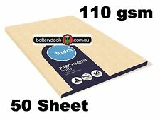 50 Sheet Tudor Putty Parchment Paper 110gsm A4 210x297 mm