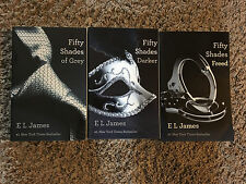 FIFTY SHADES TRILOGY  by E. L. JAMES       SOFTCOVER, EROTIC ROMANCE