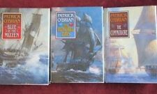 Patrick O'Brian - 3 Volume 1st Edition set (JACK AUBREY) - BLUE - COMMODORE - HU