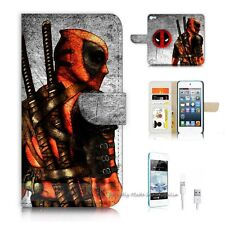 iPod Touch 5 iTouch 5 Flip Wallet Case Cover! S9660 Deadpool