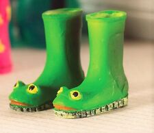 1:12 Scale Froggie Wellies Boots Doll House Miniatures Garden