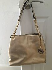 Michael Kors Jet Set Gold Metallic Chain Bag