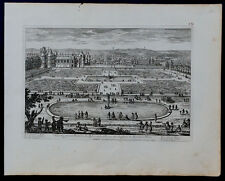 ADAM PERELLE C1680 GRAVURE OR PARTERRE TYBRE CHATEAU FONTAINEBLEAU LANGLOIS/131