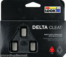 NEW 2017 Genuine LOOK DELTA Pedal Cleats 0° No Float Fit ALL DELTA Pedals: BLACK