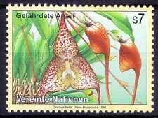 UN MNH, Dracula Bella, Endangered Plants, Orchid Colombia - S1