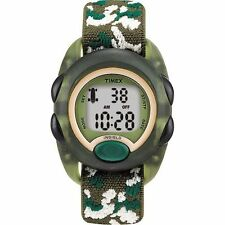 Timex T71912, Kid's Digital Camouflage Fabric Watch, Indiglo, T719129J