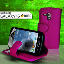 Purple Wallet Flip Leather Case for Samsung Galaxy Trends Plus 7580 S Duos S7562
