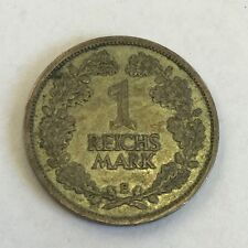 Antique Silver Germany 1926E 1 Reichmark Coin