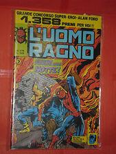 UOMO RAGNO spiderman -N° 278-A -prima SERIE 1°- DEL 1977 -CORNO- usato NO PANINI