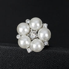 Small Pearl Rhinestone Bouquet Flower Decor Wedding Party Brooches Pin For Women