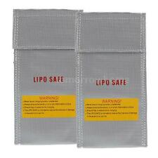 2PCS 20*10cm Glass Fiber RC LiPo Battery Safety Bag Safe Guard Charge Sack 0G7B