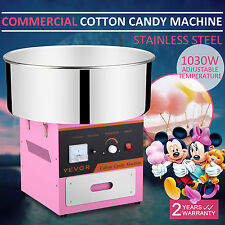 MACCHINA ZUCCHERO FILATO STAINLESS SUGAR FLOSS MAKER PINK PARTY COMMERCIAL 1030W