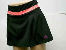 New ADIDAS CLIMATLITE STRETCH BLACK WITH CORAL TRIM ATHLETIC SKORT Size Large