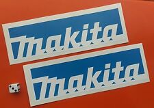 x 2 blue MAKITA STICKERS 200MM X 60MM TOOL BOXES,CARS,VANS.GARAGE