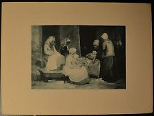 """Friends and Neighbors"" Photo Etching by H. Winthrop Pierce BEAUTIFUL! 1889"