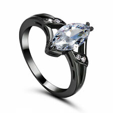 Simulated White Topaz Rings Size 5.5 Zircon White Gold Filled Wedding Band