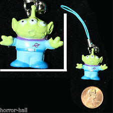 Mini Charm Figure-TOY STORY ALIEN CELL PHONE STRAP-Stocking Stuffer Fun Ornament