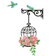 DIY Rose Small Cage Room Porch Vinyl Wall Art Sticker Decal Home Decor New