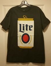 New Vintage Miller Lite Beer Can Adult Medium T-shirt Awesome Party Happy Hour