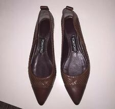 Tom Ford Python Pointy Toe Flats 37.5