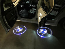 2x3D Laser LED Welcome Projector Logo Ghost Shadow Car Door Light Lamp For BMW