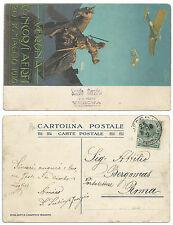 ITALIA 1910 CARTOLINA CONCORSI AEREI VERONA ANNULLATO 25 MAGGIO 1910