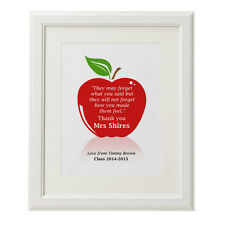 Teachers gift personalised teachers quote apple print poster
