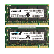 New 2GB 2X1GB PC2700 DDR333MHz Sodimm Laptop Memory RAM Full Tested