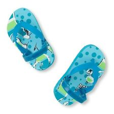 The Children's Place Boy's Blue Octopus Toddler Flip Flops NWT SIZE 6/7