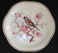 Royal Worcester SPODE PALISSY Small Plate / coaster Bird on Cherry Branch 4 7/8""